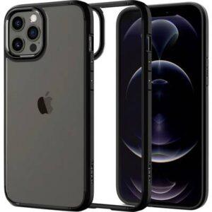 Spigen Ultra Hybrid Backcover Apple iPhone 12, iPhone 12 Pro Schwarz, Transparent