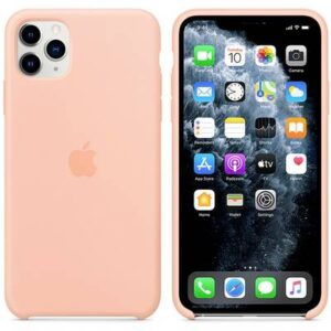 Apple iPhone 11 Max Silicone Case Silikon Case Apple iPhone 11 Pro Max Grapefruit