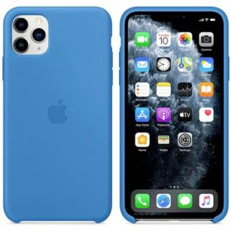 Apple iPhone 11 Max Silicone Case Silikon Case Apple iPhone 11 Pro Max Surf Blue