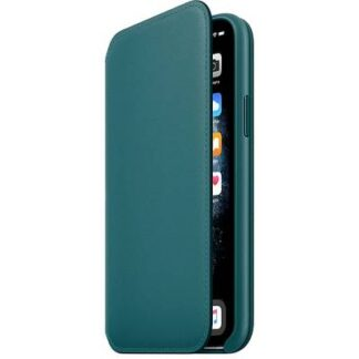 Apple iPhone 11 Pro Leather Folio Leder Case Apple iPhone 11 Pro Peacock