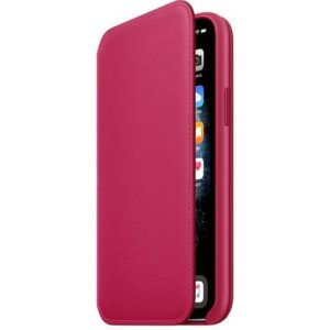 Apple iPhone 11 Pro Leather Folio Leder Case Apple iPhone 11 Pro Raspberry