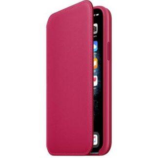 Apple iPhone 11 Pro Leather Folio Leder Case Apple iPhone 11 Pro Raspberry