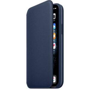 Apple iPhone 11 Pro Leather Folio Leder Case Apple iPhone 11 Pro Tiefseeblau