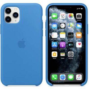 Apple iPhone 11 Pro Silicone Case Silikon Case Apple iPhone 11 Pro Surf Blue