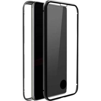Black Rock 360° Glass Galaxy Case Samsung Galaxy S10 Lite Transparent, Schwarz