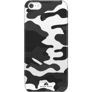 Black Rock Camouflage Case Backcover Apple iPhone SE, iPhone 5, iPhone 5S Schwarz, Transparent