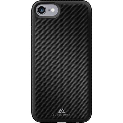 Black Rock Material Case Real Carbon Backcover Apple iPhone 6, iPhone 6S, iPhone 7, iPhone 8, iPhone SE (2. Generation)