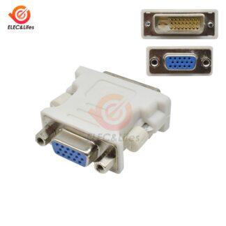 DVI to VGA Adapter Converter DVI 24+1 Pin Male to VGA Female 1080P Video Converter for HDTV Computer PC Laptop Projector