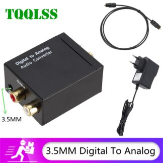 Digital to Analog Audio Converter 3.5mm Optical Fiber Toslink Coaxial Signal to RCA R/L Audio Decoder SPDIF ATV DAC Amplifier