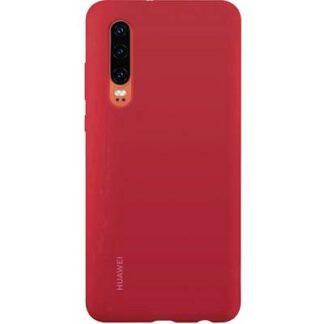 HUAWEI Silicone Car Case Backcover Huawei P30 Rot