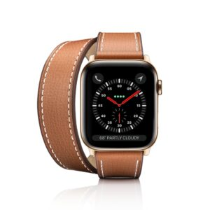 iPhone 7 Plus/7/6 Plus/6/5/5s/5c Case - 2-in-1 Italian Leather Watch Band Kit - Brown Double Tour + Single Strap (Apple Watch 38mm/40mm)