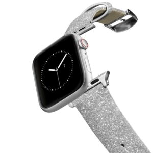 iPhone 7 Plus/7/6 Plus/6/5/5s/5c Case - Casetify Glitter Watchband 38/40mm - Silver