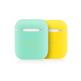 iPhone 7 Plus/7/6 Plus/6/5/5s/5c Case - Neon AirPods Case Skin (2 sets) Green/Yellow