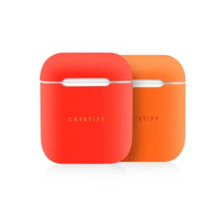 iPhone 7 Plus/7/6 Plus/6/5/5s/5c Case - Neon AirPods Case Skin (2 sets) Light Orange/Dark Orange