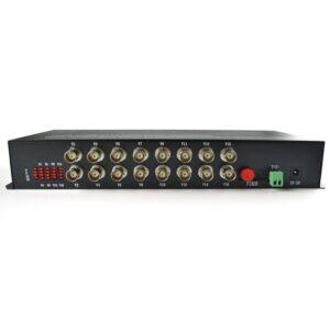 1 Pair 2 Pieces/lot 16 Channel Video Optical Converter 1V1D Fiber Optic Video Optical Transmitter & Receiver 1CH +RS485 Data