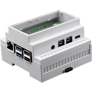 Axxatronic CBRPI-DR-4-CLR-CON SBC-Gehäuse Passend für: Raspberry Pi zur Hutschienenmontage Weiß