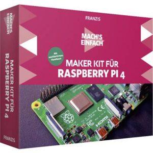 Franzis Verlag 67112 Machs einfach - Raspberry Pi4 Raspberry Pi Experimentierkasten ab 14 Jahre