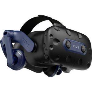 HTC Vive Pro 2 Schwarz Virtual Reality Brille inkl. Bewegungssensoren, mit integriertem Soundsystem