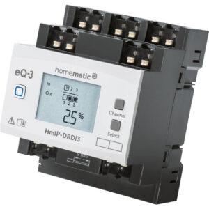 Homematic IP Smart Home Funk-Dimmaktor für Hutschienenmontage, HmIP-DRDI3, 3-fach