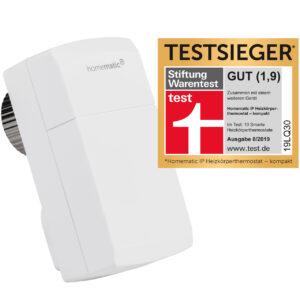 Homematic IP Smart Home Heizkörperthermostat - kompakt, HmIP-eTRV-C inkl. Demontageschutz