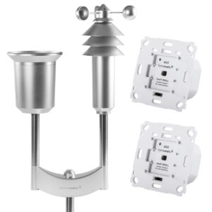Homematic IP Smart Home Set Wetterschutz mit 2x Rollladenaktor und Wettersensor Plus