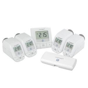 Homematic IP WLAN Set Heizen mit WLAN Access Point, 4x Heizkörperthermostat und 1x Wandthermostat