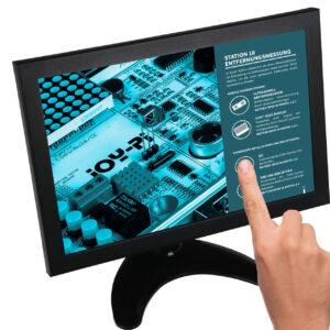 """Joy-IT Touchscreen-Monitor RB-LCD-10-2, 10,1""""-IPS-Display, Metallgehäuse, geeignet für Raspberry Pi"""