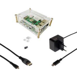 Joy-it Basic Set Raspberry Pi® 4 B 4 GB 4 x 1.5 GHz inkl. Gehäuse, inkl. Netzteil, inkl. Kühlkörper, inkl. Noobs OS,