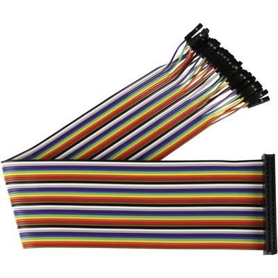 Joy-it RB-CB2-030 Jumper-Kabel Raspberry Pi [40x Drahtbrücken-Buchse - 40x Drahtbrücken-Buchse] 30.00 cm Bunt inkl.