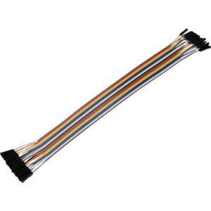 Joy-it RB-CB5-025 Jumper-Kabel Raspberry Pi, Banana Pi, Arduino [20x Drahtbrücken-Buchse - 20x Drahtbrücken-Buchse]