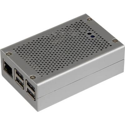 Joy-it RB-StromPI2-CaseSI SBC-Gehäuse Passend für: Raspberry Pi Silber