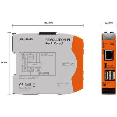 Kunbus RevPi Core 3 PR100257 SPS-Steuerungsmodul 12 V, 24 V