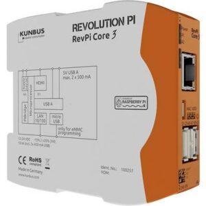 Kunbus RevPi Core3+ 16GB PR100300 SPS-Steuerungsmodul 12 V, 24 V