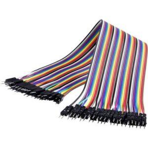MAKERFACTORY JKMM40 Jumper-Kabel Arduino, Banana Pi, Raspberry Pi [40x Drahtbrücken-Stecker - 40x Drahtbrücken-Stecker]