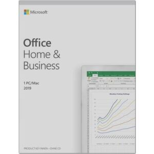 Microsoft Home and Business 2019 Vollversion, 1 Lizenz Windows, Mac Office-Paket