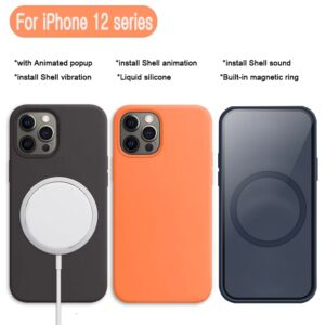 Original Liquid Silicone With Animation Pop-up Window For iPhone 12 Pro Max Case For iPhone 12 Mini Case Magnetic