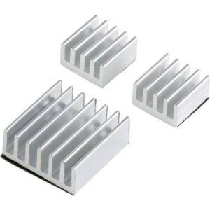 PCooler Kühlkörper-Set Passend für: Raspberry Pi, Banana Pi Silber