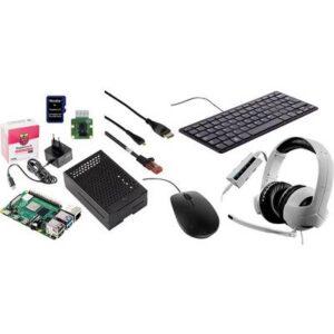 Raspberry Pi® Homeoffice/Homeschooling Kit Raspberry Pi® 4 B 8 GB 4 x 1.5 GHz inkl. Kamera-Modul, inkl. Tastatur, inkl.