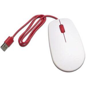 Raspberry Pi® Raspberrymaus weiß USB Maus Optisch Weiß, Rot