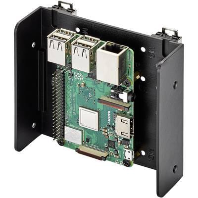 Renkforce DIN-Rail-Halterung Passend für: Raspberry Pi, Arduino, Banana Pi zur Hutschienenmontage Schwarz