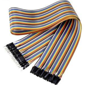 Renkforce JKMF406 Jumper-Kabel Arduino, Banana Pi, Raspberry Pi [40x Drahtbrücken-Stecker - 40x Drahtbrücken-Buchse]