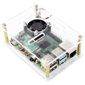 Renkforce RBP-PLC100 SBC-Gehäuse Passend für: Raspberry Pi, Banana Pi, Rock Pi inkl. aktiven Kühler Transparent