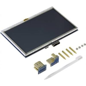 TRU COMPONENTS Touchscreen-Monitor 12.7 cm (5 Zoll) 800 x 480 Pixel Passend für: Raspberry Pi, Banana Pi