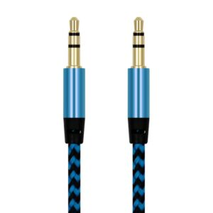 1m Nylon Jack Aux Cable 3.5 mm to 3.5mm Audio Cable Male to Male Kabel Gold Plug Car Aux Cord for iphone Samsung xiaomi