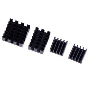 4pcs Aluminum Heatsink Radiator Cooler Kit For Raspberry Pi 4b For Raspberry Pi 4 Aluminum Alloy Good Safe Durable Wholesale