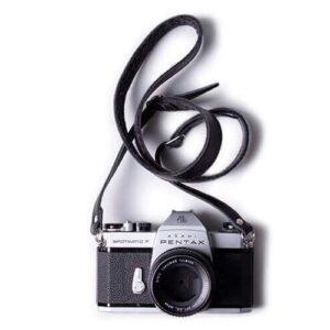 Adjustable Leather & Felt Camera Strap | Harber London
