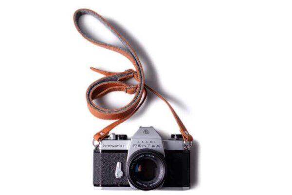 Adjustable Leather & Felt Camera Strap   Harber London