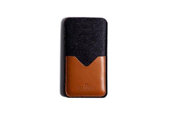 Black Edition - Leather Smartphone Sleeve Wallet   Harber London
