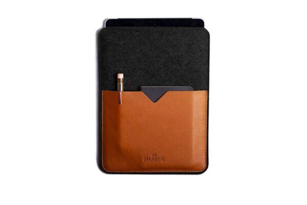 Black Edition - Leather iPad and Kindle Case Sleeve   Harber London