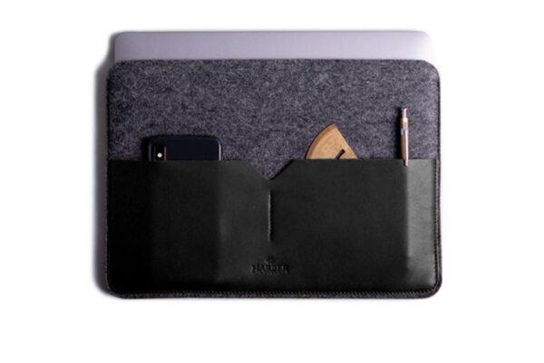 Classic Leather MacBook Sleeve   Harber London